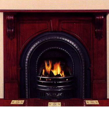 Real Flame Victorian Arched Mantelpiece