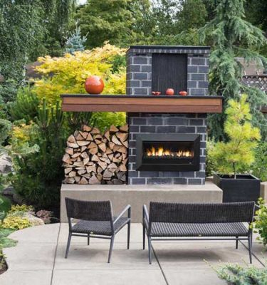 Real Flame Exuro 2017 Outdoor Fireplace