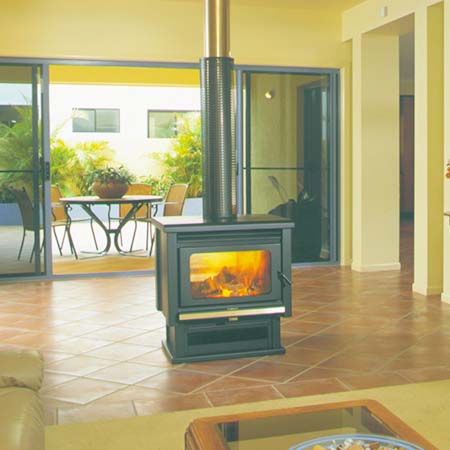 Buy A Kemlan Coupe Double Sided Freestander Fireplace In