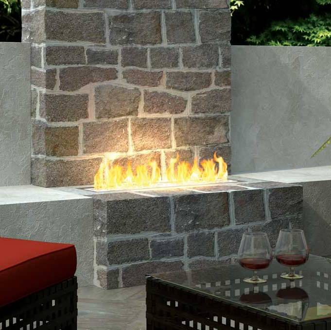 galleries specialist fireplace concept linear ethanol gas davenport burner open the dir