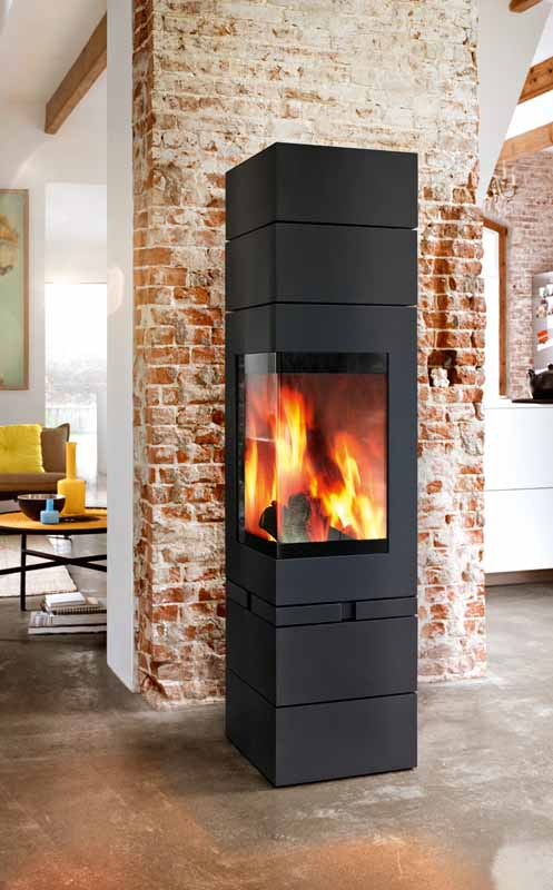 Buy A Skantherm Elements 400 Corner Wood Fireplace In