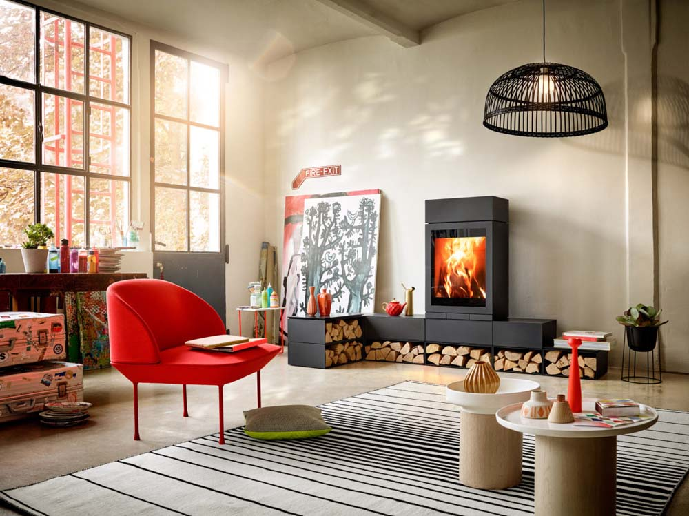Skantherm Elements 600 FrontWood Burning Fireplaces