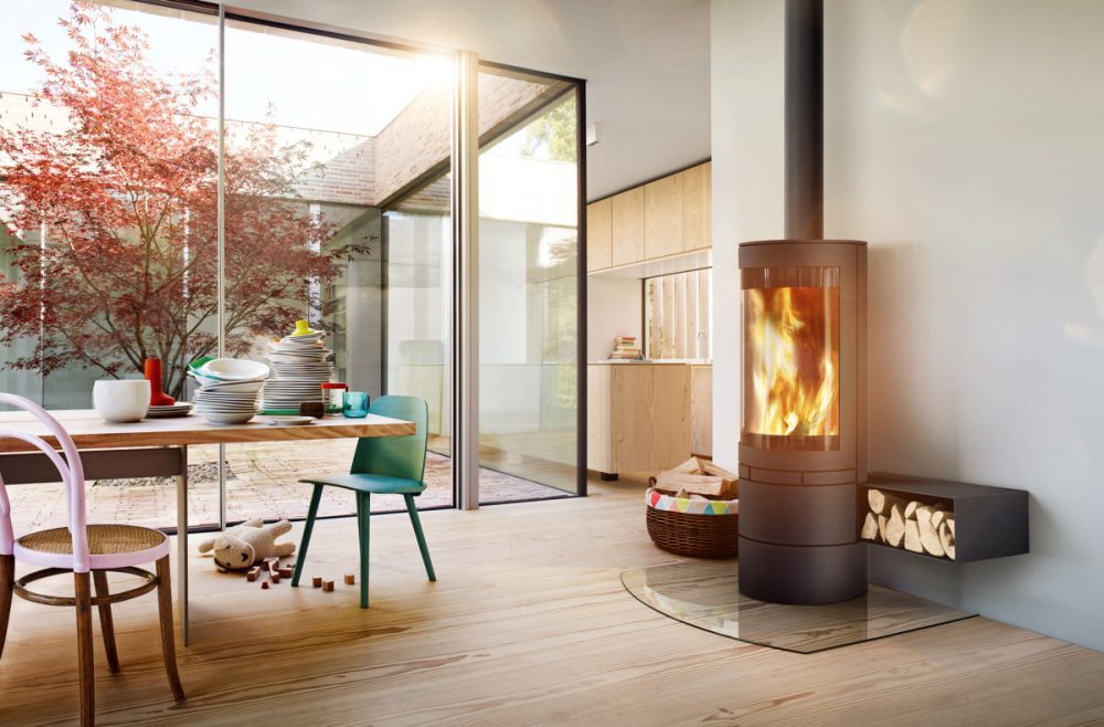 Skantherm Elements Round Wood Burning Fireplaces