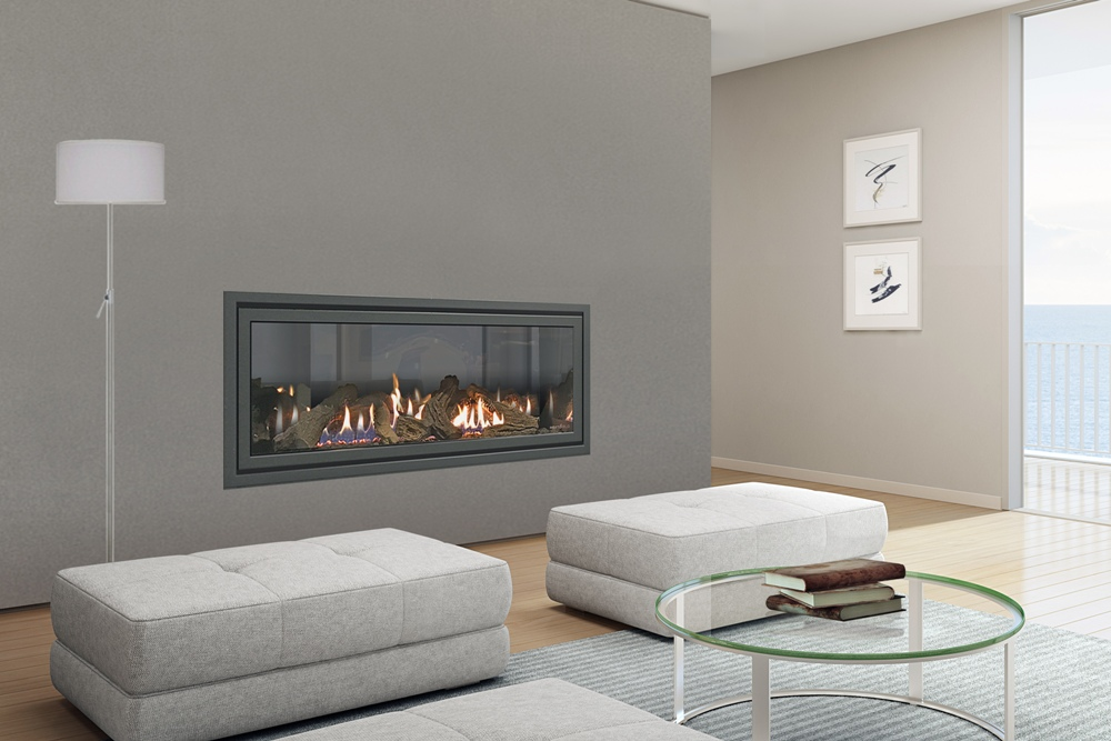 SLR-X balanced flue gas fireplace.