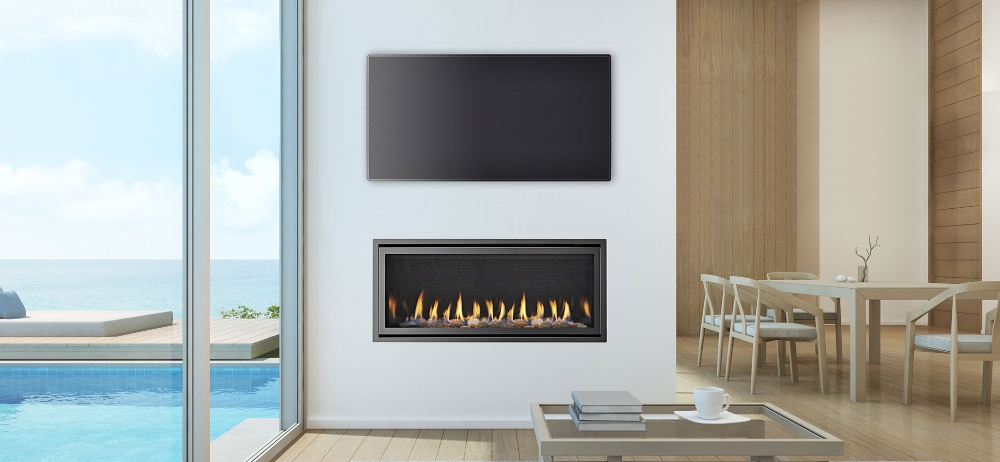 SLR-X flue gas fireplace